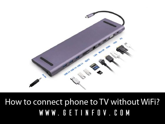 How to connect phone to TV without WiFi